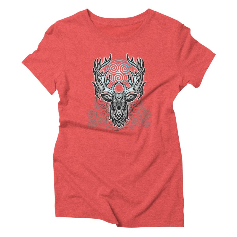Legend of the White Stag Women's Triblend T-Shirt by Celtic Hammer Club