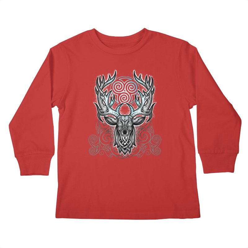 Legend of the White Stag Kids Longsleeve T-Shirt by Celtic Hammer Club