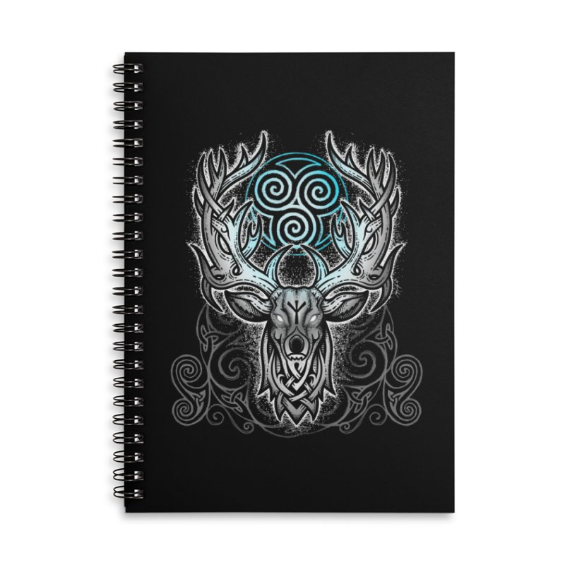 Legend of the White Stag Accessories Lined Spiral Notebook by Celtic Hammer Club