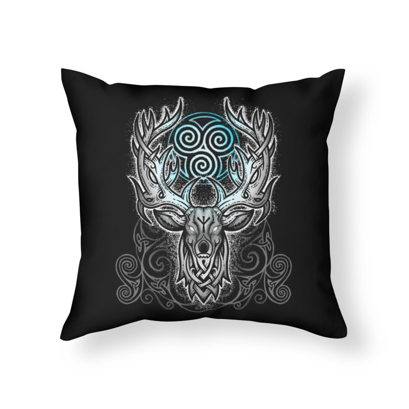 Legend of the White Stag Home Throw Pillow by Celtic Hammer Club