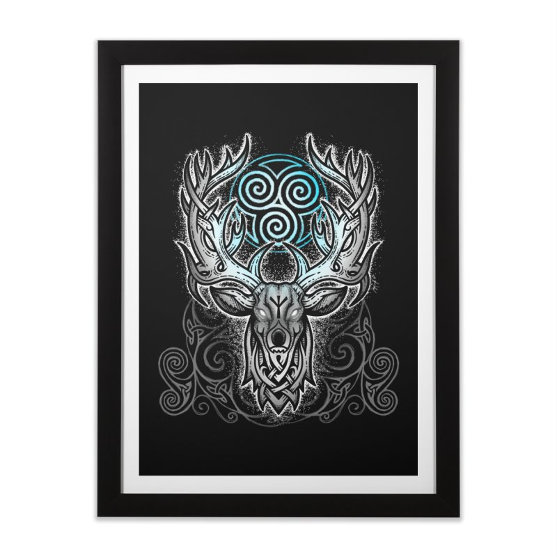 Legend of the White Stag Home Framed Fine Art Print by Celtic Hammer Club
