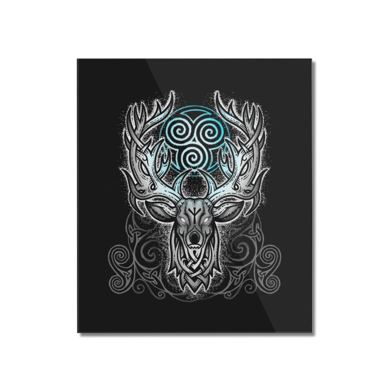 Legend of the White Stag Home Mounted Acrylic Print by Celtic Hammer Club