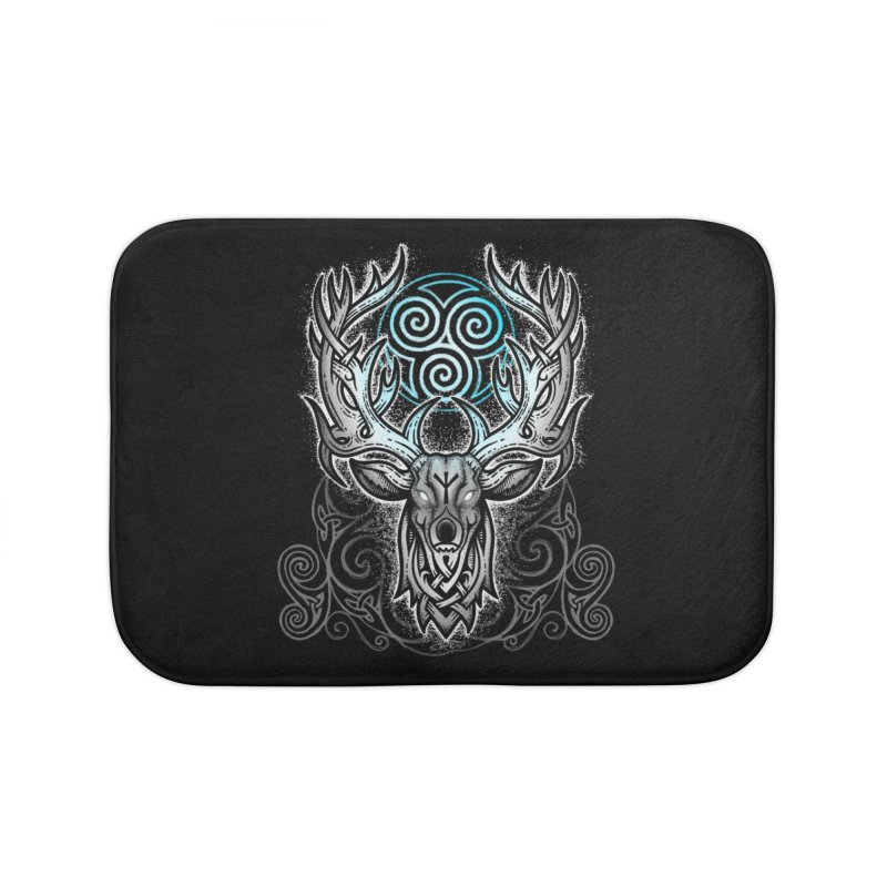 Legend of the White Stag Home Bath Mat by Celtic Hammer Club