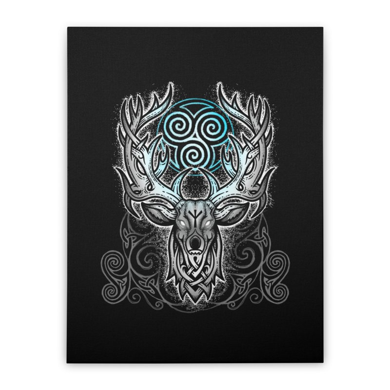 Legend of the White Stag Home Stretched Canvas by Celtic Hammer Club