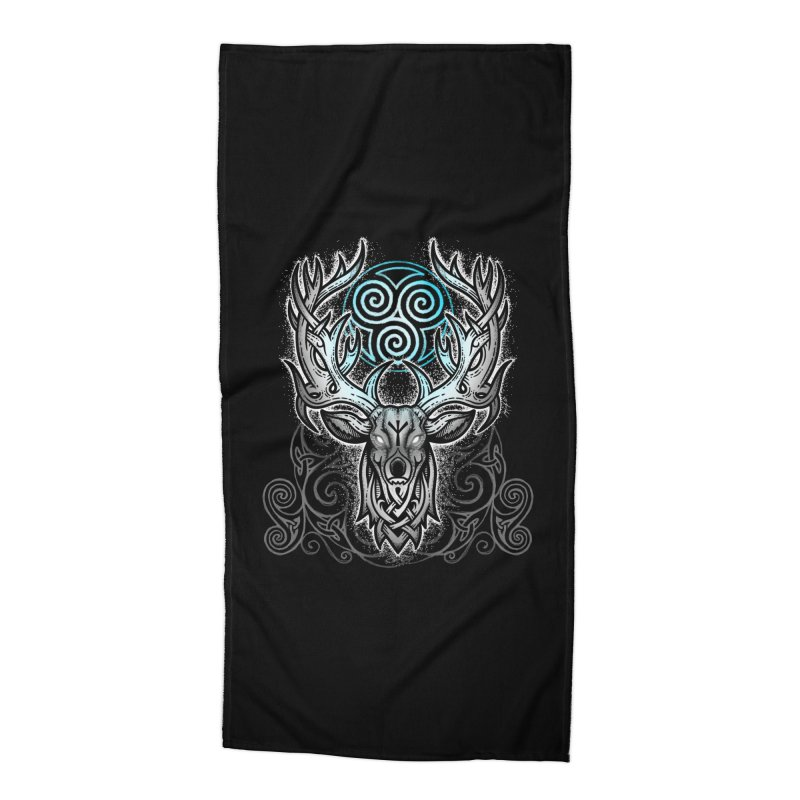 Legend of the White Stag Accessories Beach Towel by Celtic Hammer Club