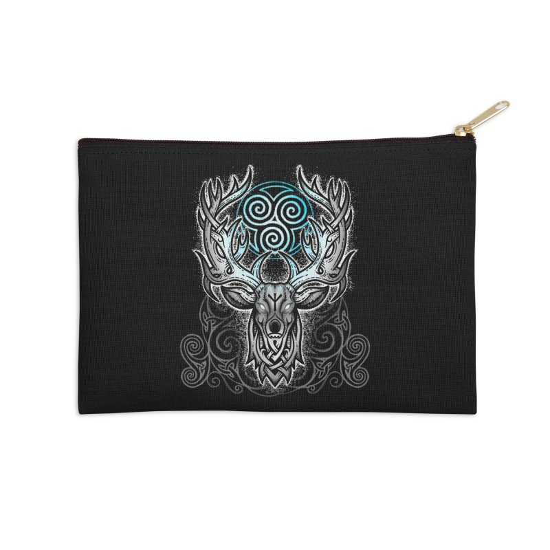 Legend of the White Stag Accessories Zip Pouch by Celtic Hammer Club