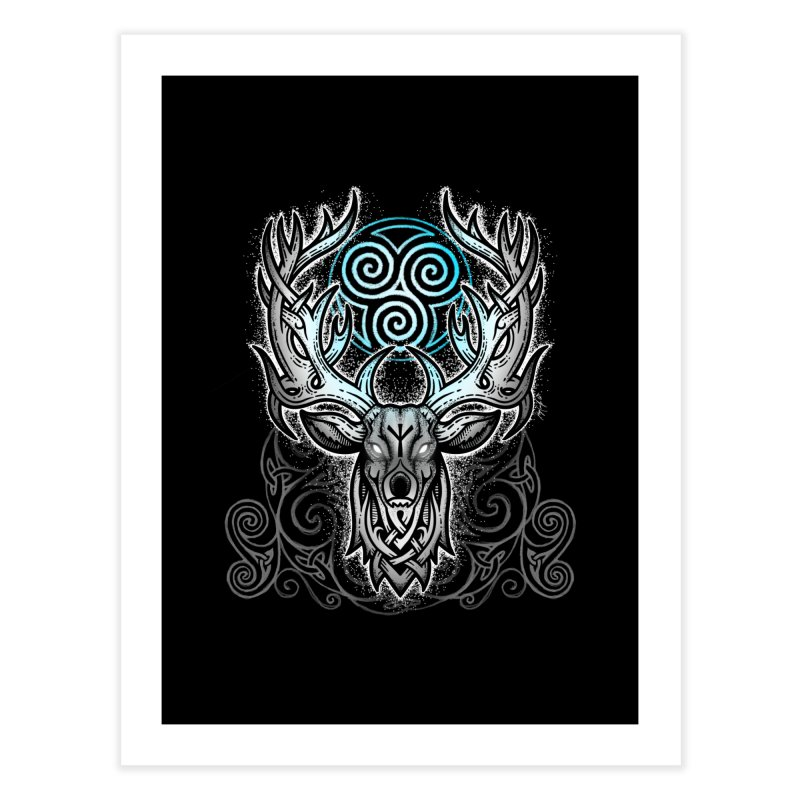 Legend of the White Stag Home Fine Art Print by Celtic Hammer Club
