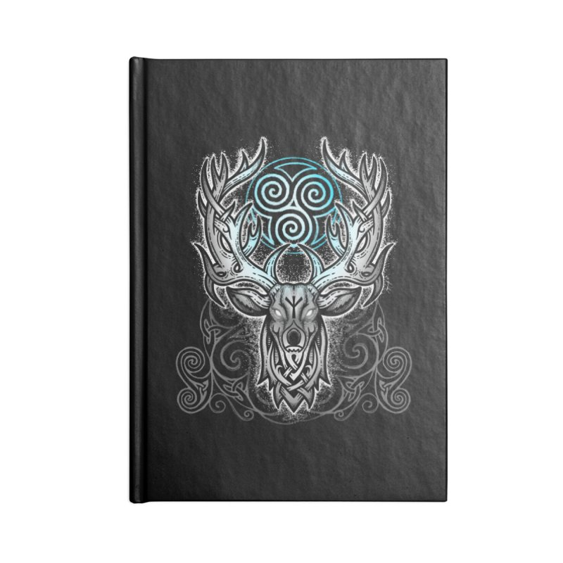 Legend of the White Stag Accessories Lined Journal Notebook by Celtic Hammer Club