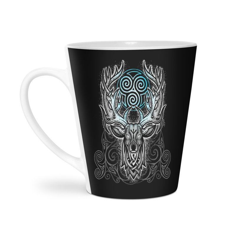 Legend of the White Stag Accessories Latte Mug by Celtic Hammer Club