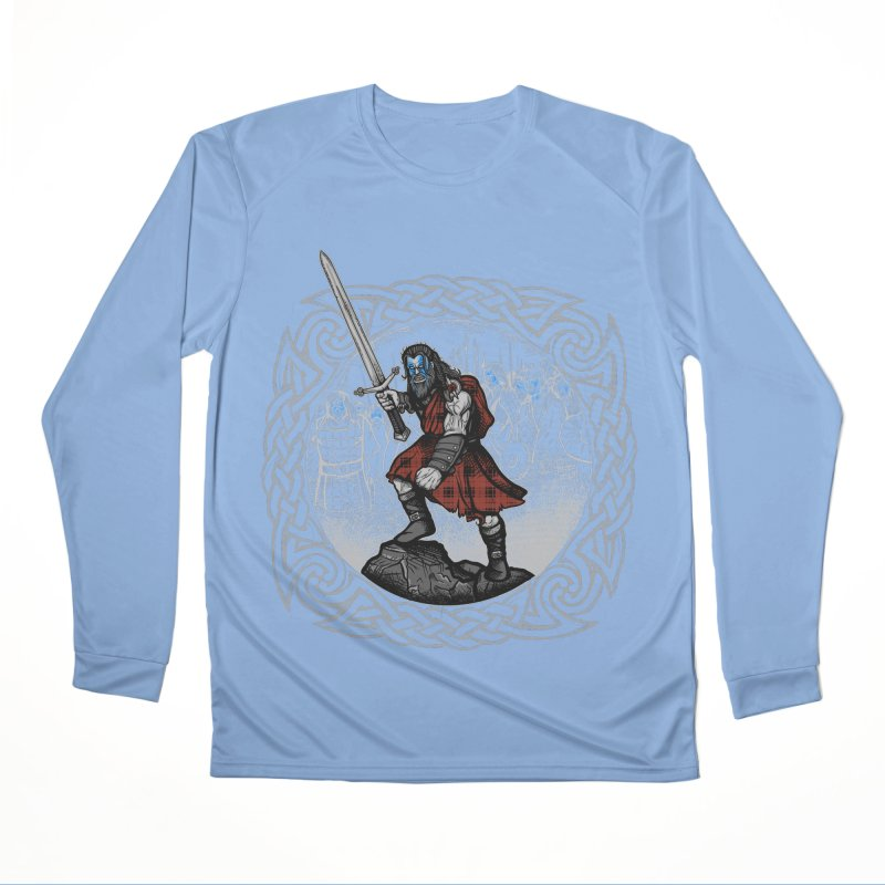 Highlander Charge Men's Performance Longsleeve T-Shirt by Celtic Hammer Club