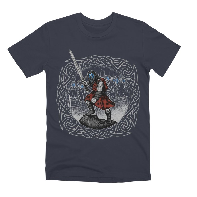 Highlander Charge Men's Premium T-Shirt by Celtic Hammer Club