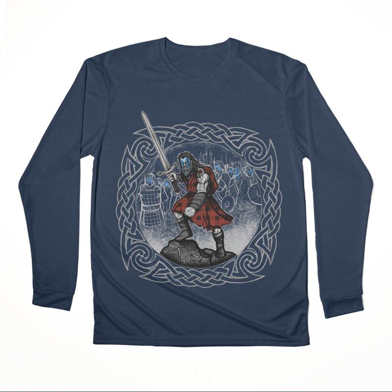 Highlander Charge Women's Performance Unisex Longsleeve T-Shirt by Celtic Hammer Club