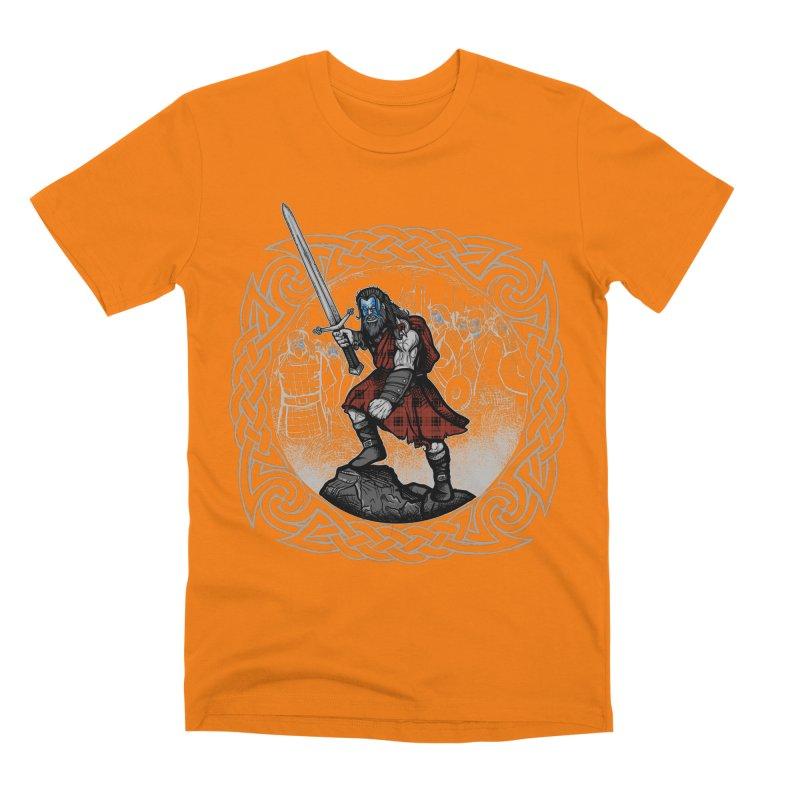 Highlander Charge Men's T-Shirt by Celtic Hammer Club