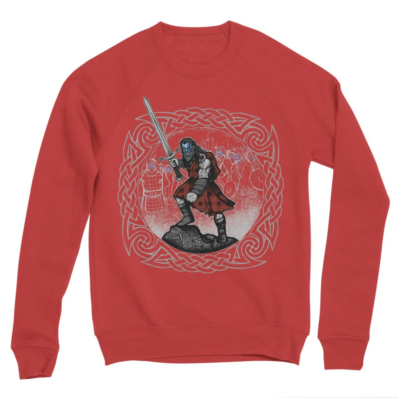 Highlander Charge Women's Sponge Fleece Sweatshirt by Celtic Hammer Club