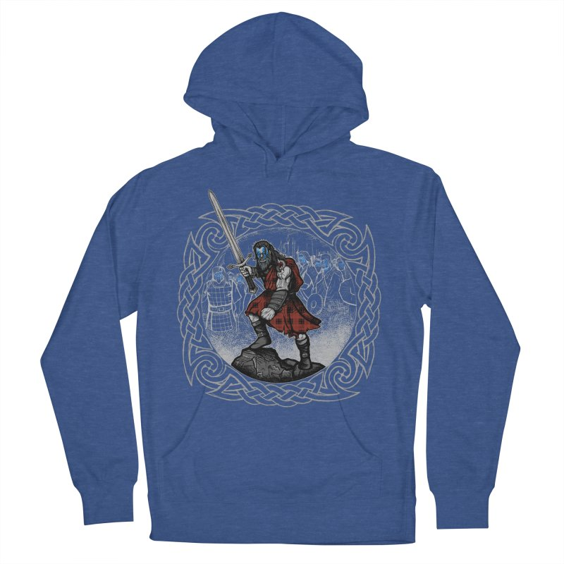 Highlander Charge Women's French Terry Pullover Hoody by Celtic Hammer Club