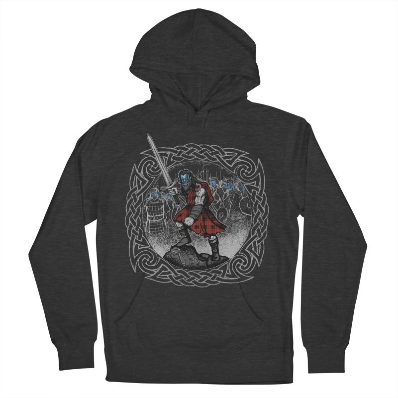 Highlander Charge Men's French Terry Pullover Hoody by Celtic Hammer Club