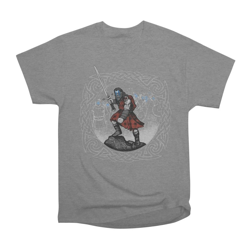Highlander Charge Women's Heavyweight Unisex T-Shirt by Celtic Hammer Club
