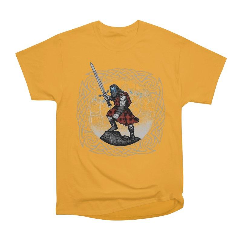 Highlander Charge Men's Heavyweight T-Shirt by Celtic Hammer Club