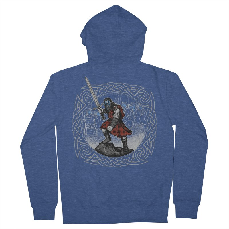 Highlander Charge Women's French Terry Zip-Up Hoody by Celtic Hammer Club