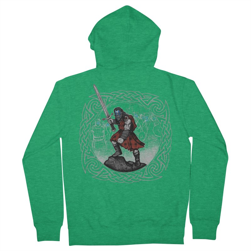 Highlander Charge Men's Zip-Up Hoody by Celtic Hammer Club