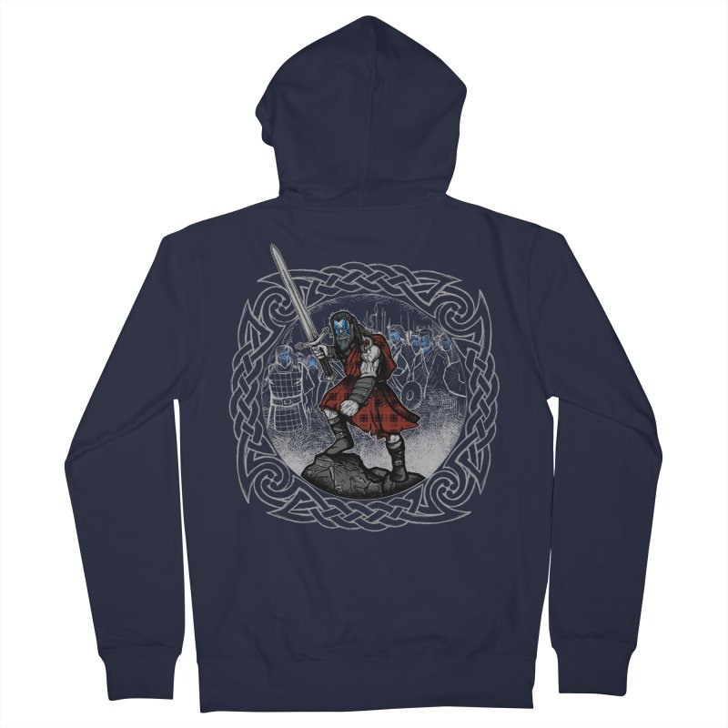 Highlander Charge Men's French Terry Zip-Up Hoody by Celtic Hammer Club