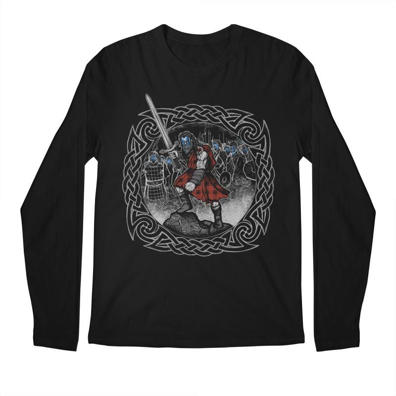 Highlander Charge Men's Regular Longsleeve T-Shirt by Celtic Hammer Club