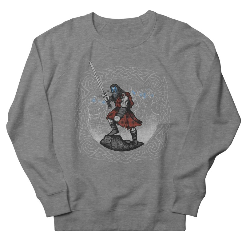 Highlander Charge Women's French Terry Sweatshirt by Celtic Hammer Club