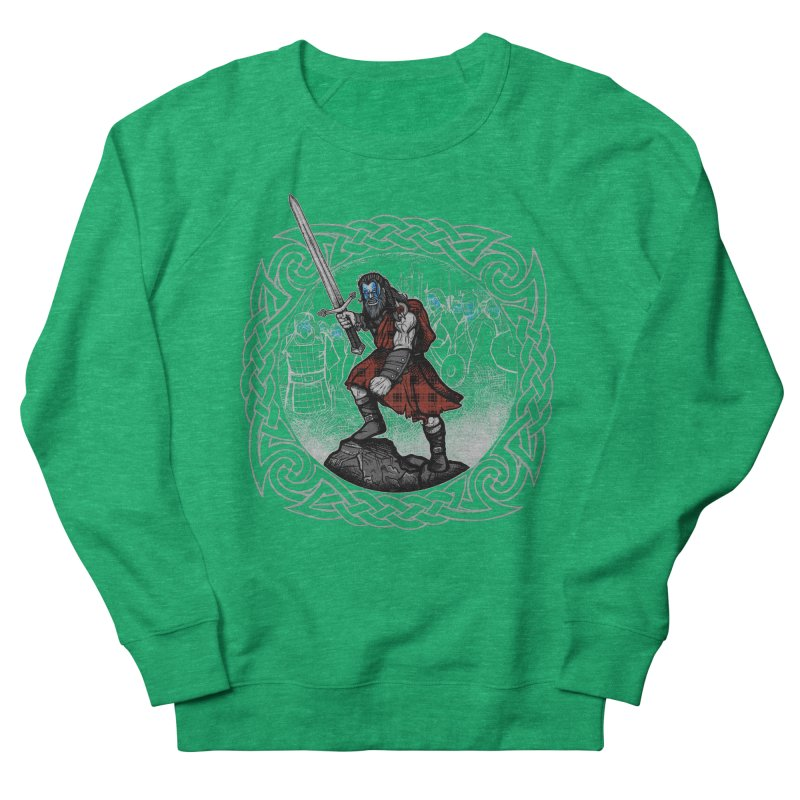 Highlander Charge Men's French Terry Sweatshirt by Celtic Hammer Club