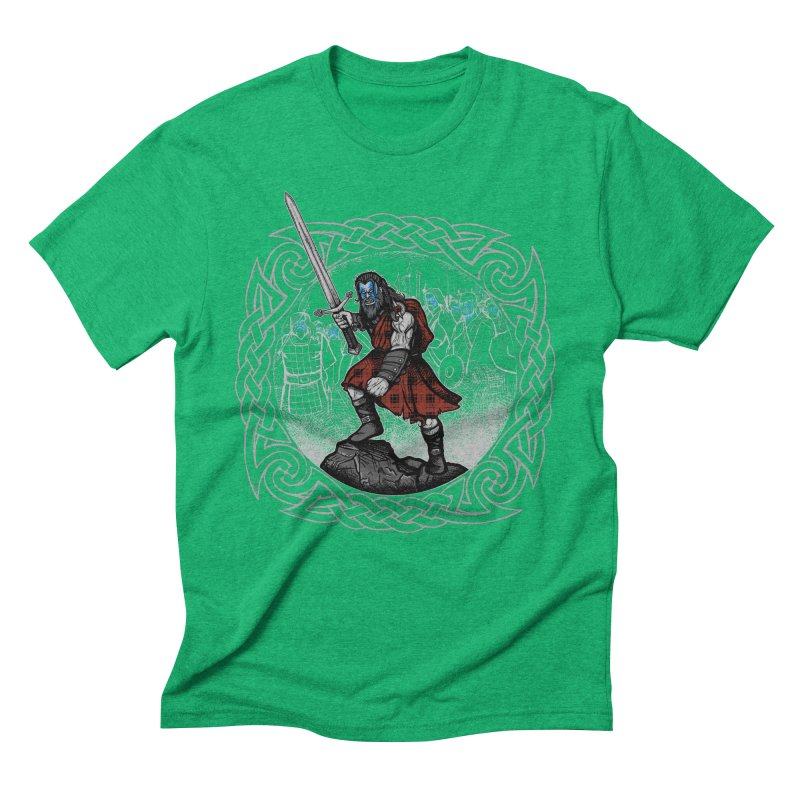 Highlander Charge Men's Triblend T-Shirt by Celtic Hammer Club