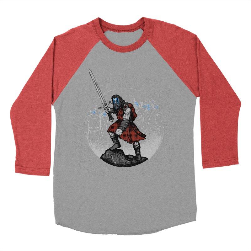 Highlander Charge Women's Baseball Triblend Longsleeve T-Shirt by Celtic Hammer Club