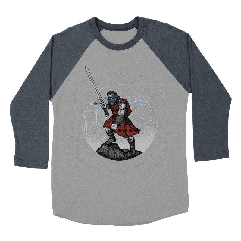 Highlander Charge Men's Baseball Triblend Longsleeve T-Shirt by Celtic Hammer Club