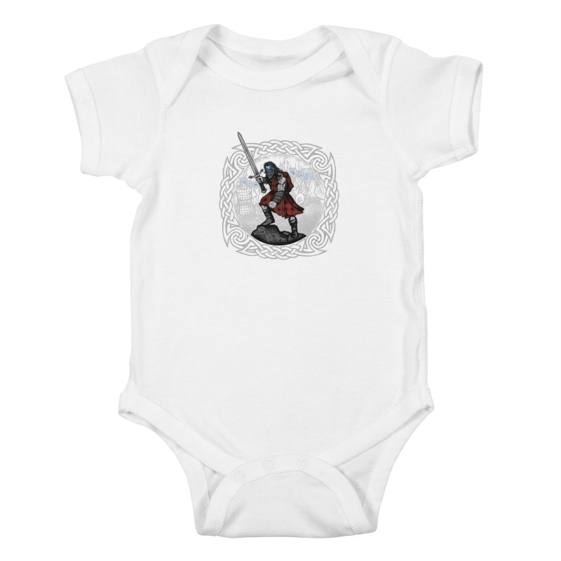 Highlander Charge Kids Baby Bodysuit by Celtic Hammer Club