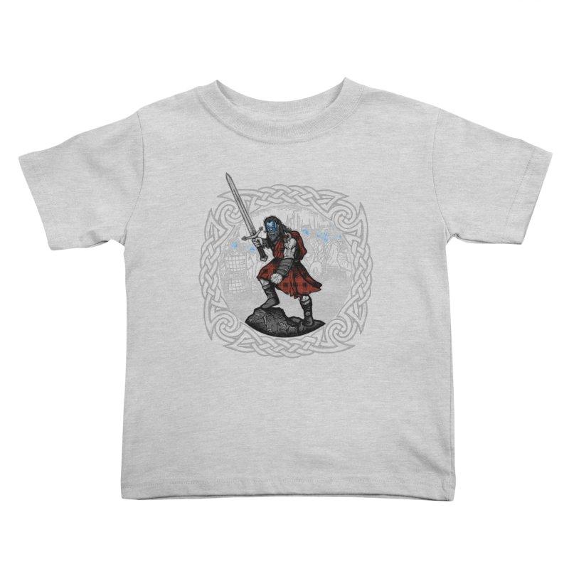 Highlander Charge Kids Toddler T-Shirt by Celtic Hammer Club