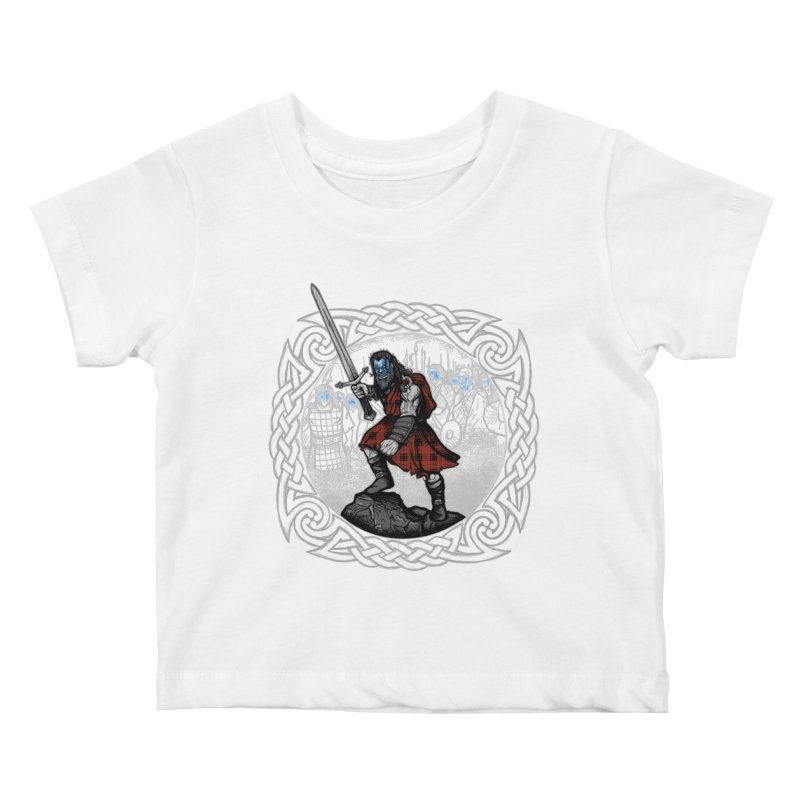 Highlander Charge Kids Baby T-Shirt by Celtic Hammer Club