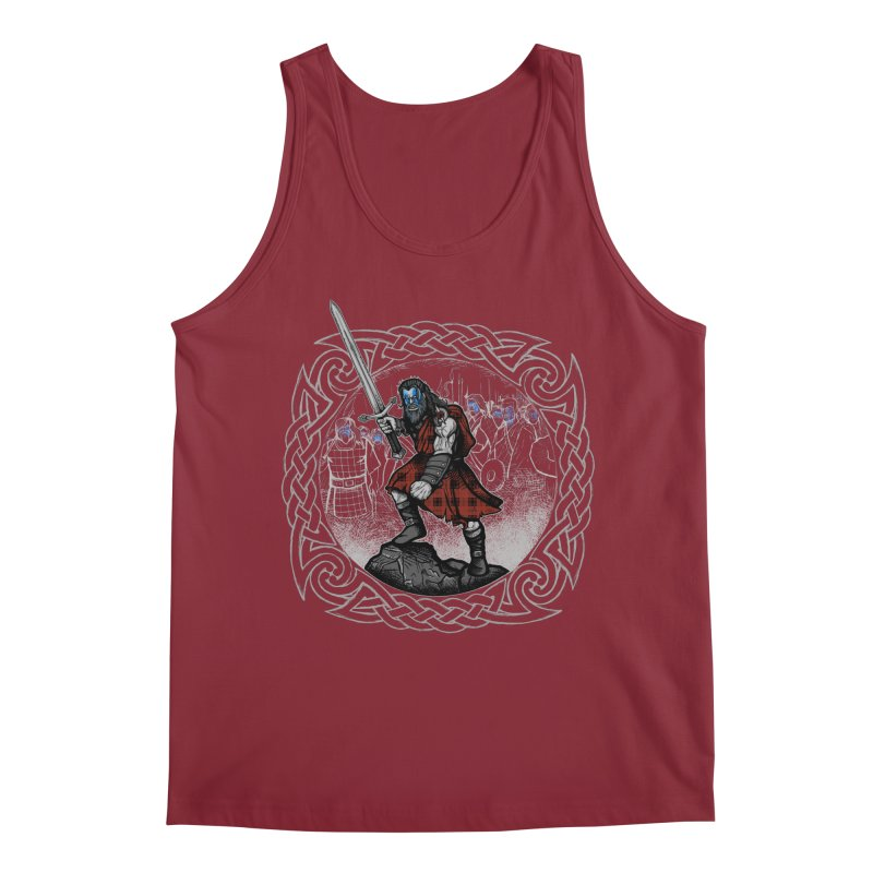 Highlander Charge Men's Tank by Celtic Hammer Club