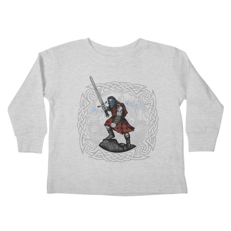 Highlander Charge Kids Toddler Longsleeve T-Shirt by Celtic Hammer Club