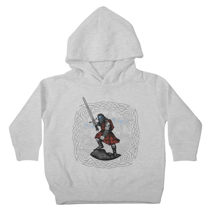 Highlander Charge Kids Toddler Pullover Hoody by Celtic Hammer Club
