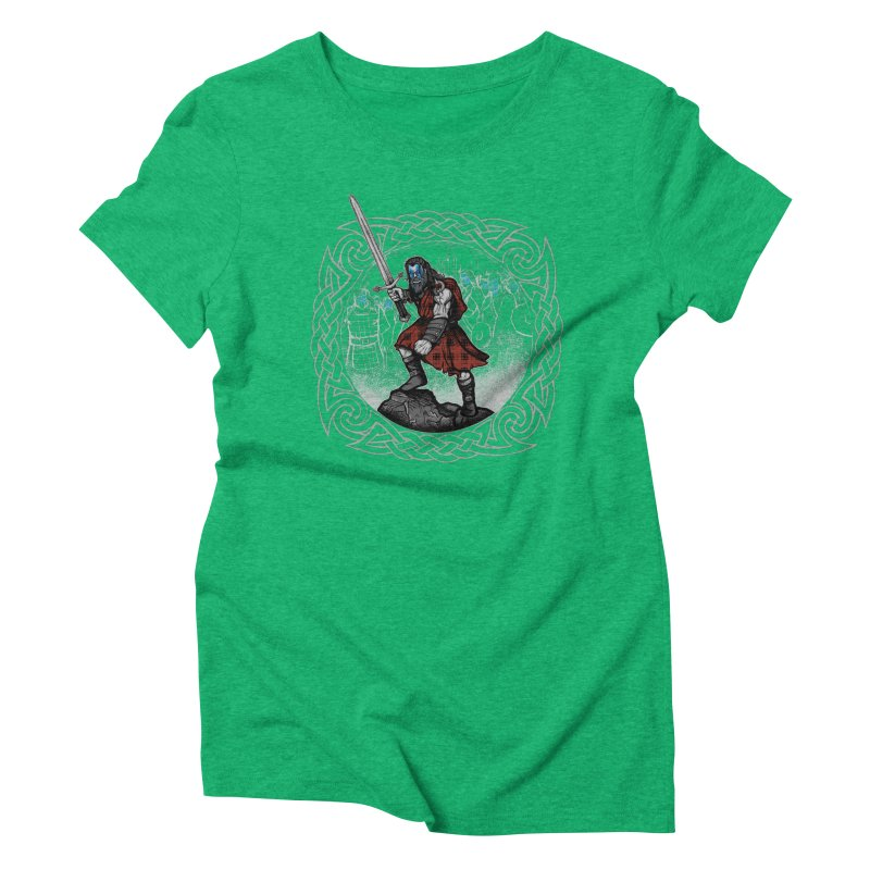 Highlander Charge Women's Triblend T-Shirt by Celtic Hammer Club