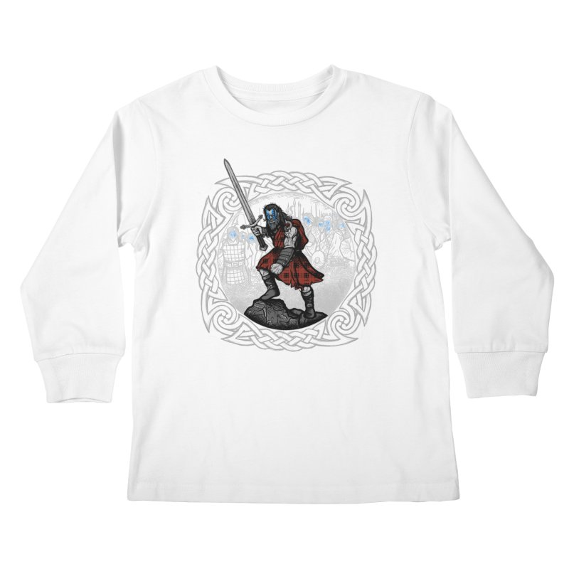 Highlander Charge Kids Longsleeve T-Shirt by Celtic Hammer Club