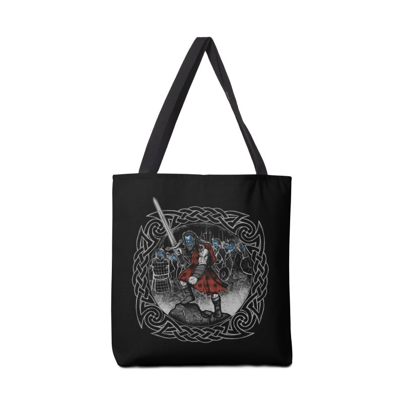 Highlander Charge Accessories Tote Bag Bag by Celtic Hammer Club