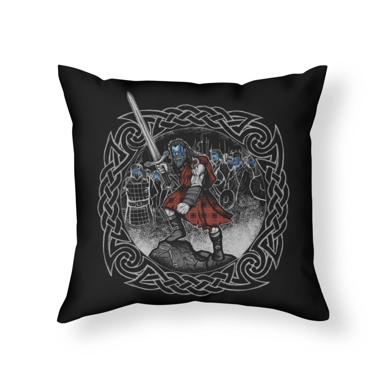 Highlander Charge Home Throw Pillow by Celtic Hammer Club