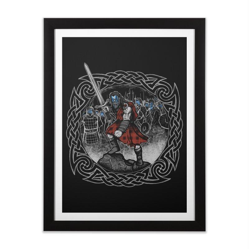 Highlander Charge Home Framed Fine Art Print by Celtic Hammer Club