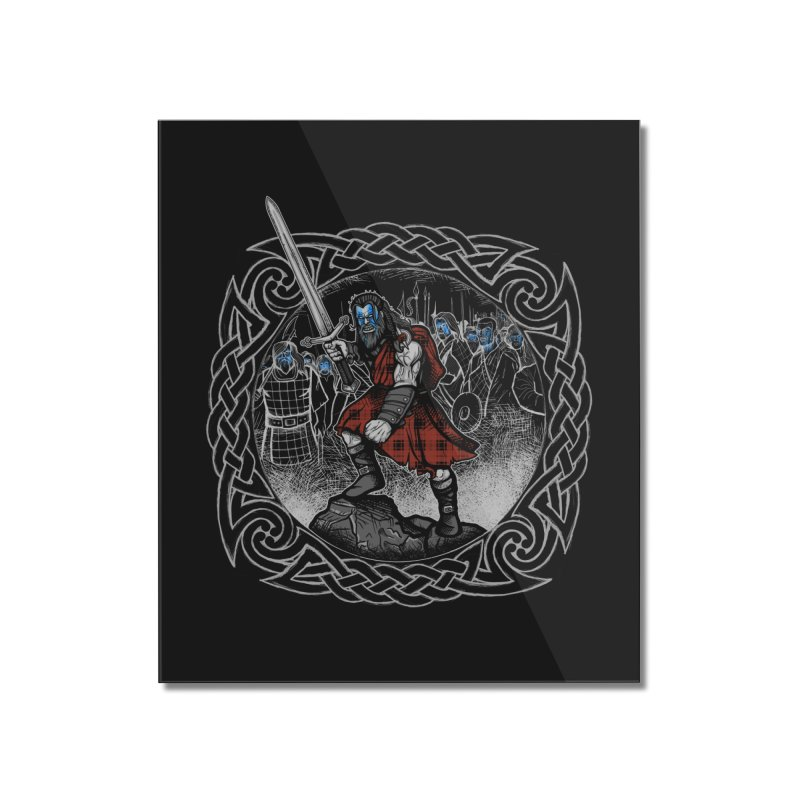 Highlander Charge Home Mounted Acrylic Print by Celtic Hammer Club