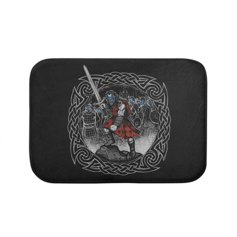Highlander Charge Home Bath Mat by Celtic Hammer Club