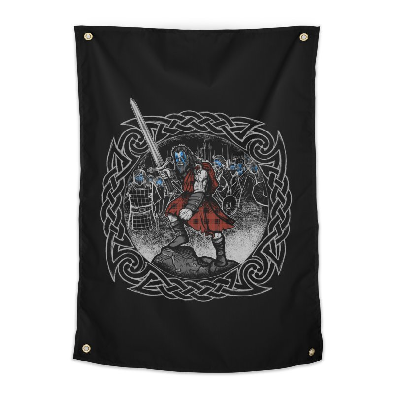 Highlander Charge Home Tapestry by Celtic Hammer Club