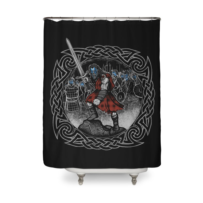 Highlander Charge Home Shower Curtain by Celtic Hammer Club