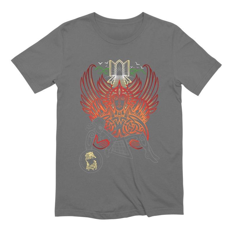 """Valkyrie, """"Chooser of the Slain"""" Men's T-Shirt by Celtic Hammer Club"""
