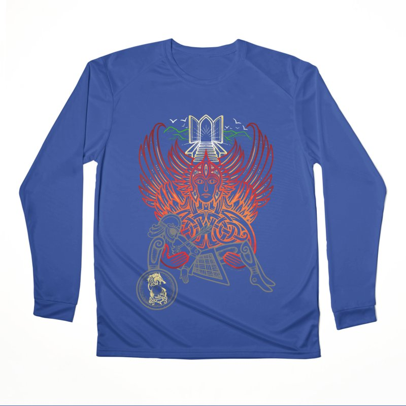 "Valkyrie, ""Chooser of the Slain"" Women's Performance Unisex Longsleeve T-Shirt by Celtic Hammer Club"