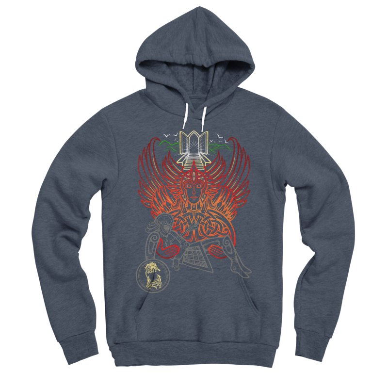 "Valkyrie, ""Chooser of the Slain"" Men's Sponge Fleece Pullover Hoody by Celtic Hammer Club"