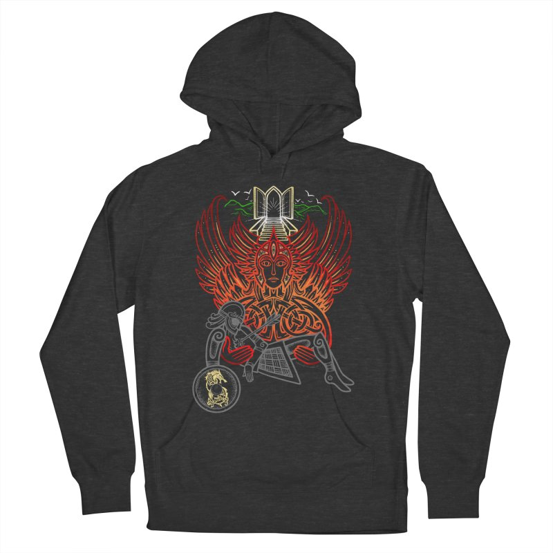 """Valkyrie, """"Chooser of the Slain"""" Women's French Terry Pullover Hoody by Celtic Hammer Club"""
